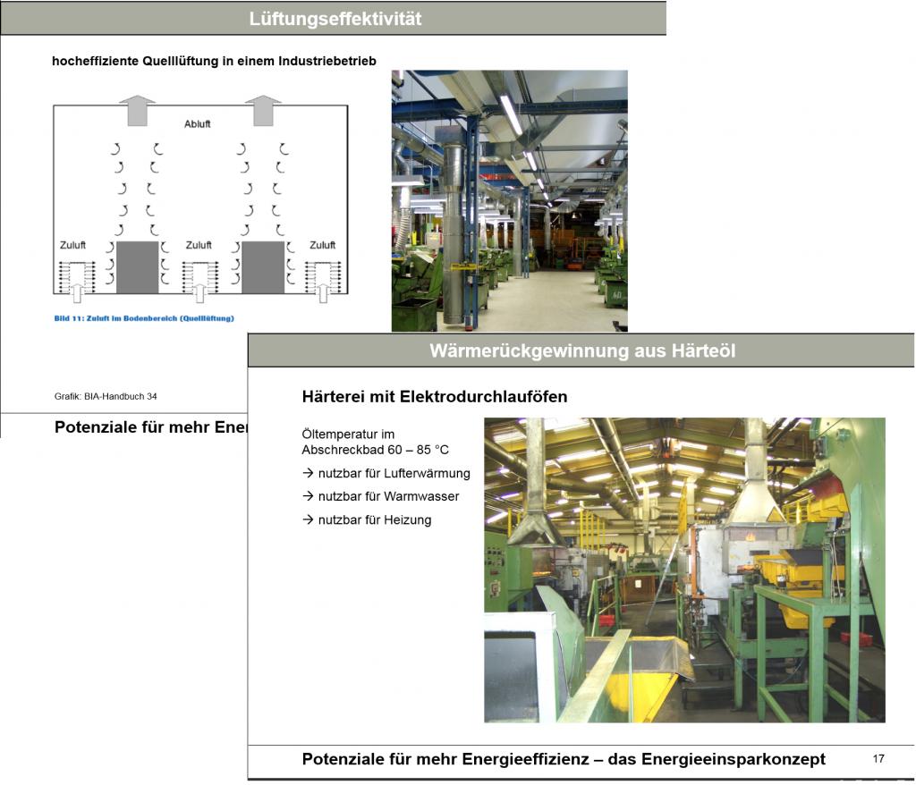 Vortragsauszug ausgeführte Energieeinsparprojekte Industrie